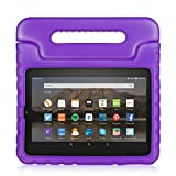 TNP Fire HD 7 Case - Kids Shock Proof Soft Light Weight Childproof Impact Drop Resistant Protective Stand Cover Case with Handle for Amazon Fire HD 7 Inch Tablet 5th Gen 2015 Release (Purple)