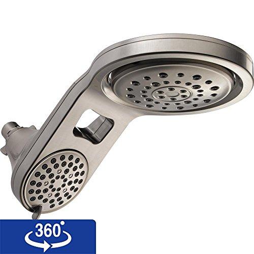 Delta 58580-SS-PK HydroRain 5-Spray Touch Clean 2-in-1 Rain Shower Head, Stainless