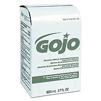 GOJO 921212CT Jabón de loción ultra suave con relleno de cloroxilenol, bálsamo floral, 800 ml (caja de 12)