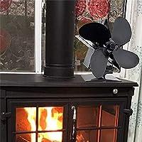 GMtes Ventilador de Estufa con 4 Aspas, Accionado por Calor Sin Electricidad, Fan para Estufa de Leña/Chimenea/Quemador de Leña Operación silenciosa Distribución de Calor Ecológica y Eficiente,2pack: Amazon.es: Hogar