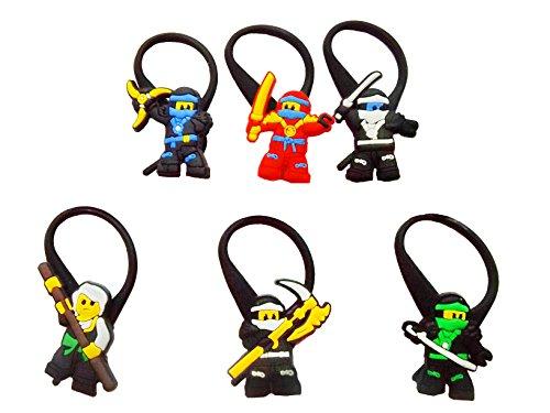 AVIRGO Soft Zipper Pull Charms for Backpack Bag Pendant Jacket Set of 6 pcs Set # 90-3