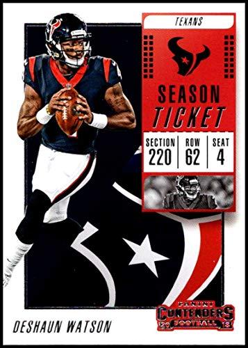 2018 Panini Contenders Season Tickets Football #60 DeShaun Watson Houston Texans Official NFL Trading - Tickets Football Houston Texans
