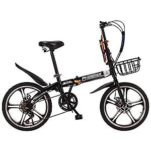 51nCED8B lL. SS300 N / A HAIZHEN -Bicicletta Pieghevole,Mountain Bike con Ruote da 16 Pollici ,Bici Leggera in Alluminio A 7 velocità per Giovani Adulti