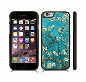 Case Cover For HTC One M9 with Blossoming Tree, Watercolor of Tree Branches with White Blossoms Snap-on Cover, Hard Carrying Case (Black)