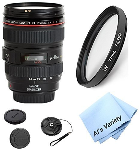 Canon EF 24-105mm f/4 L IS Zoom Lens  Bundle Kit With + High