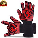 #5: BBQ Gloves Grill Gloves Oven Gloves 932°F Extreme Heat Resistant Gloves EN407 Certified 1 Pair 14