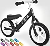 Cruzee UltraLite Balance Bike (4.4 lbs) for Ages 1.5 to 5 Years | Best Sport Push Bicycle for 2, 3 & 4 Year Old Boys & Girls– Toddlers & Kids Skip Tricycles on the Lightest First Bike 1–Black