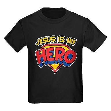 Amazon.com: Royal Lion Kids Dark T-Shirt Jesus is My Hero: Clothing