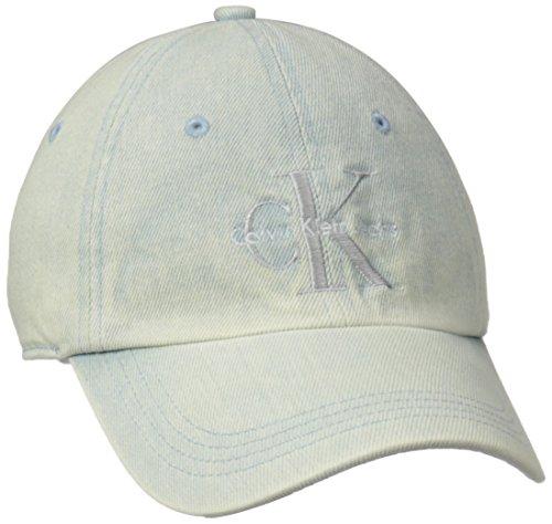 Calvin Klein Jeans Men's Reissue Logo Baseball Dad Hat, Pale Indigo, ONE SIZE