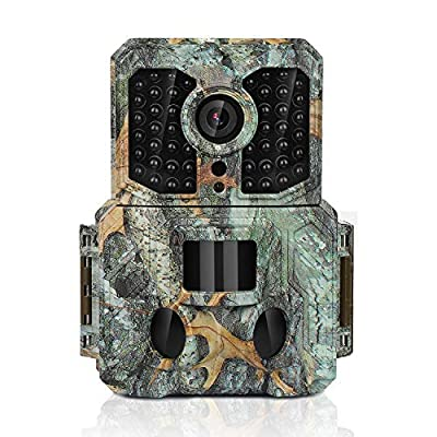 """Trail Game Camera 16MP 1080P Waterproof Hunting Scouting Cam Wildlife Monitoring 130° Detection with 0.2s Trigger Speed 2.4"""" LCD IR LEDs IP55 Waterproof Design"""