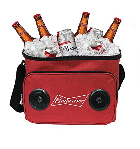Budweiser Soft Cooler Bluetooth Speaker Portable Travel Cooler with Built in Speakers Bud Weiser Wireless Speaker Cool Ice Pack Cold Beer Stereo for Apple iPhone, Samsung Galaxy from Budweiser