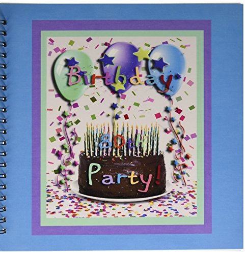 Album 12x12 Chocolate (3dRose db_20219_2 Birthday Party Chocolate Cake 80th Memory Book, 12 by 12-Inch)