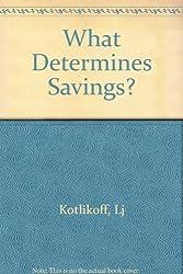 What Determines Savings?