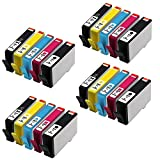 HOTCOLOR 20Pack 564 564 XL 564XL 4x(Black,Photo Black,Cyan,Magenta,Yellow) Ink Cartridge for HP Photosmart 7510 7515 7520 7525 B209a B8550 C309a C309g C309n C310a C410a C510a C6340 Printer