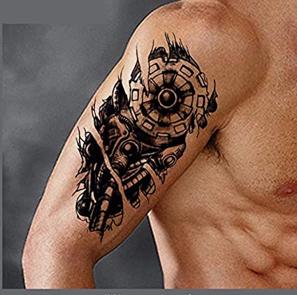 ruofengpuzi Adesivo tatuaggioLos Hombres de la Moda Robot Brazo ...