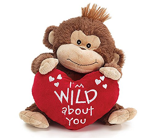 Brown Plush Valentine Monkey with