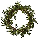 #4: Nearly Natural 4773 Olive Wreath, 20-Inch, Green