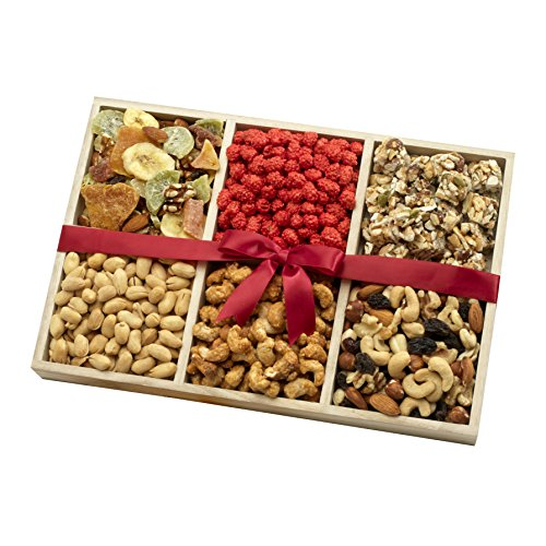 Chocolate Peanut Crackers - Dried Fruit and Nut Party Gift Tray, 2.5lb, A Healthy Gift Basket