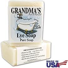 Grandmas Lye Soap | Pure Natural Soap Bar for Dry Itchy Skin (2 Pack)