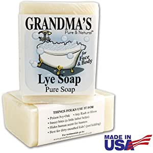 Grandma's Lye Soap 6 Ounces (Pack of 2)