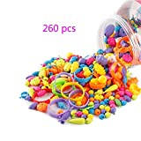 Looching 260 pcs Pop Beads Set DIY Jewelry Making Creative Kits Rings Necklace Bracelet Toys Art...