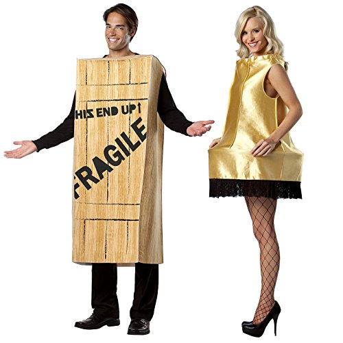 [A Christmas Story Leg Lamp and Fragile Wooden Crate Costume Bundle Set] (Leg Lamp Dress Costume)