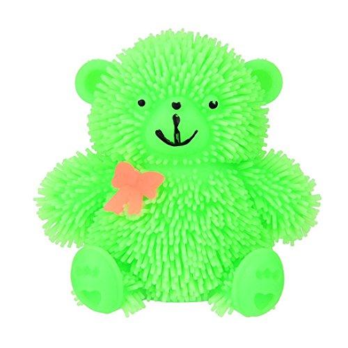 Lookatool 9CM Novelty Flashing Puffer Cute Bear Squidgy Sensory Toy Activity and Play Ball - Las Vegas Skill Stop