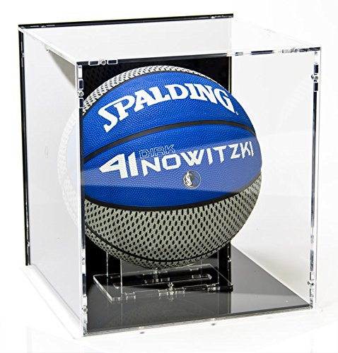 Vitrine de ballon de basket-ball, avec base noir et panneau d'arrière noir SORA G41200