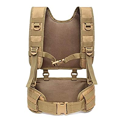 hothuishi Tactical Vest with Suspender Straps Airsoft Vest Suspenders Battle Belt Airsoft Chest Harness for Outdoor Training and Field Training