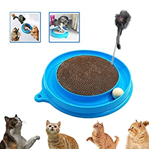 Cat Toy, Cat Turbo Toy, Post Pad Interactive Training Exercise Mouse Play Toy with Turbo and Ball