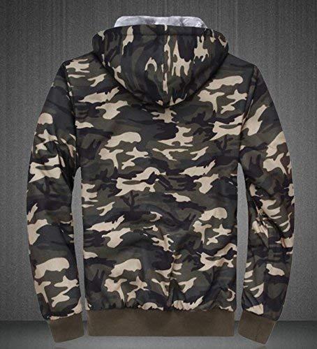 Aspic SELX-Men Plus Plus Plus Size Camouflage Fleece Long Sleeve Hooded Jacket Coat 790c11