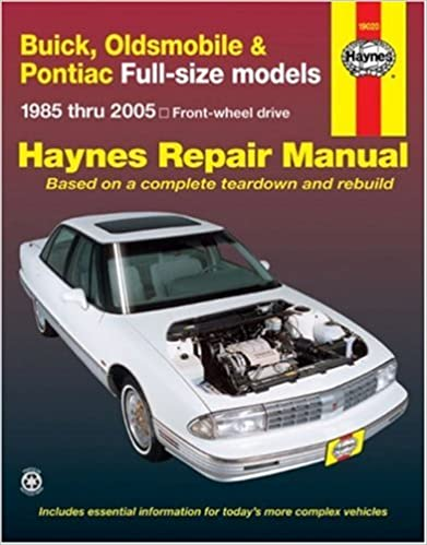 Buick olds pontiac full size fwd models 1985 thru 2005 haynes buick olds pontiac full size fwd models 1985 thru 2005 haynes repair manuals 1st edition fandeluxe Choice Image