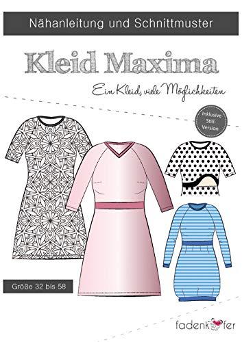 Maxima Schnittmuster und N/ähanleitung Damen Kleid
