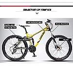 XNEQ-24-Freno-a-Disco-27-Olio-velocit-Freno-Gi-Mountain-Bike-variabile-off-Road-velocit-Morbida-Coda-della-Bicicletta-Doppio-Olio-Freni-a-Disco-Assorbimento-di-ScossaGiallo27-Speed