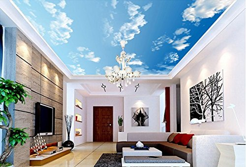 3D White Clouds Sky 449 Ceiling Wall Paper Wall Print Decal Wall Deco | Self-Adhesive Large Ceiling Wallpaper, AJ Wallpaper US Lemon (Vinyl (No Glue & Removable),  82x58 208x146cm(WxH))