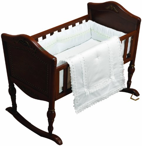 Baby Doll Bedding Royal Classic Cradle Bedding Set, White by BabyDoll Bedding