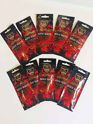 Indoor Tanning Packets - Indoor Tanning Lotion Packets Ed Hardy Body Shots Tanovations10 Packets/Unit
