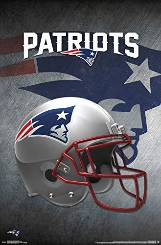 Trends International New England Patriots-Helmet Clip Bundle Wall Poster, 22.375