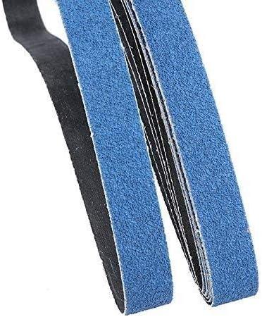 YELLAYBY Abrasive Tool 5 Pcs 25x760 Mm Abrasive Sanding Belts for Air Belt Sander Aluminium Oxide Grinder Belt for Metal Grinding Grit 60 for Wood Soft Metal Polishing Set Kit