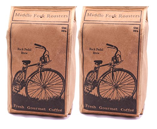 Middle Fork Back Pedal Brew | Medium Roast Whole Bean Coffee, Pack of 2 | Roasted in Seattle (Seattle Gifts Online)