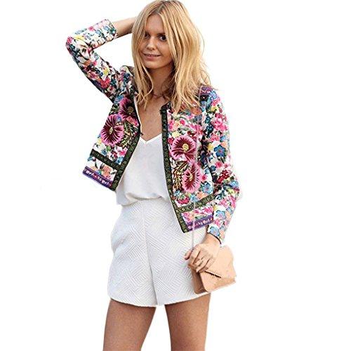 Jacket Haoricu Floral Printed Outwear