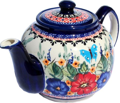 polish pottery teapot with warmer - 8