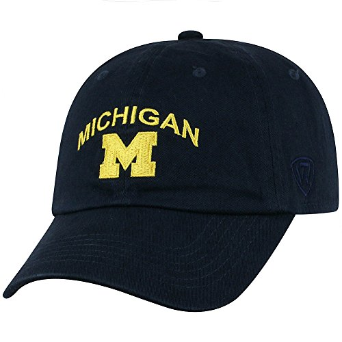 Top of the World Michigan Wolverines Men's Hat Arch, Navy, Adjustable