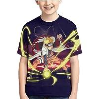 Camiseta Naruto Camiseta para NiñOs Adolescentes Anime 3D Impreso Top Manga Cosplay Manga Corta