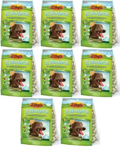 Zukes Z-Bones Edible Dental Chews Mini Apple Crisp 144ct (8