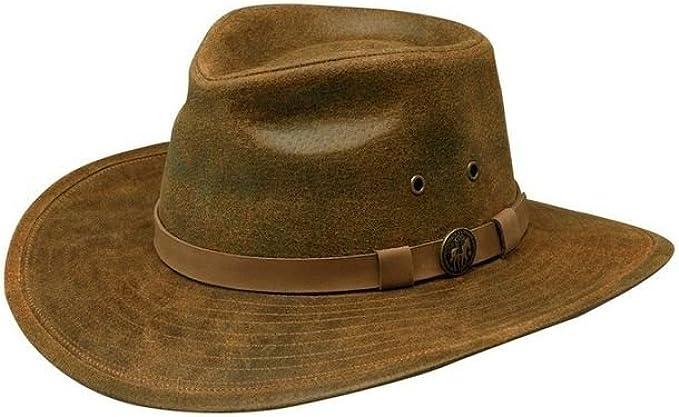 Outback Trading Kodiak Oilskin Hat Large Brown