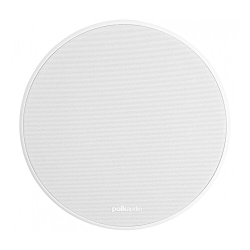 Polk Audio 90-RT 3-Way In-Ceiling Speaker - The Vanishing Series | Perfect for Mains, Rear or Side Surrounds | Paintable Wafer-Thin Sheer Grille | Dual Band-Pass Bass Ports for Low Frequencies White