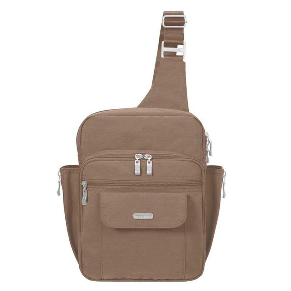 Baggallini Messenger Sling Organizer Shoulder Backpack Bag (Mocha/MES160) by Baggallini (Image #1)