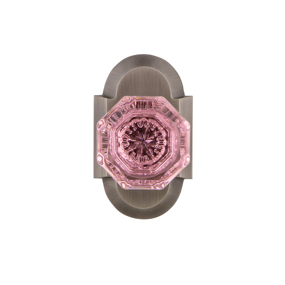 Nostalgic Warehouse 724269 Cottage Plate Privacy Waldorf Pink Door Knob in Oil-Rubbed Bronze 2.375