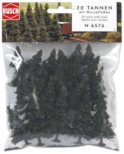 Busch 6576 Pine Tree w/Roots Set 20/N Scale Scenery Kit